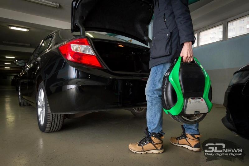 Загрузить Inmotion V3 Pro в багажник легко и просто