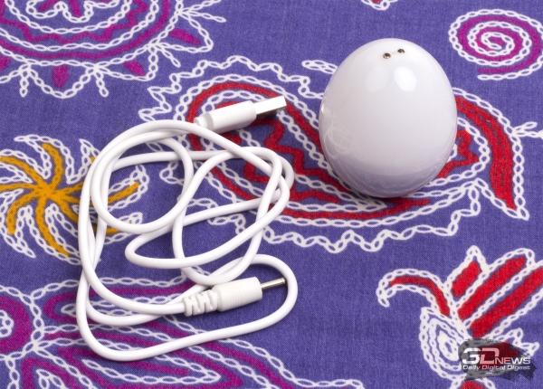 USB-кабель и аккумулятор-яйцо