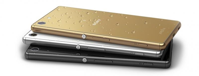 Sony Xperia M5 – официальное фото (гаджет бывает в белом, черном и золотистом цветах)