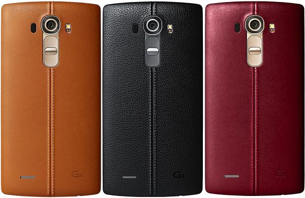 LG G4 – разные цвета задней панели, обшитой кожей