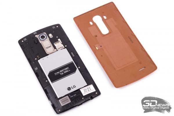 LG G4 без задней крышки