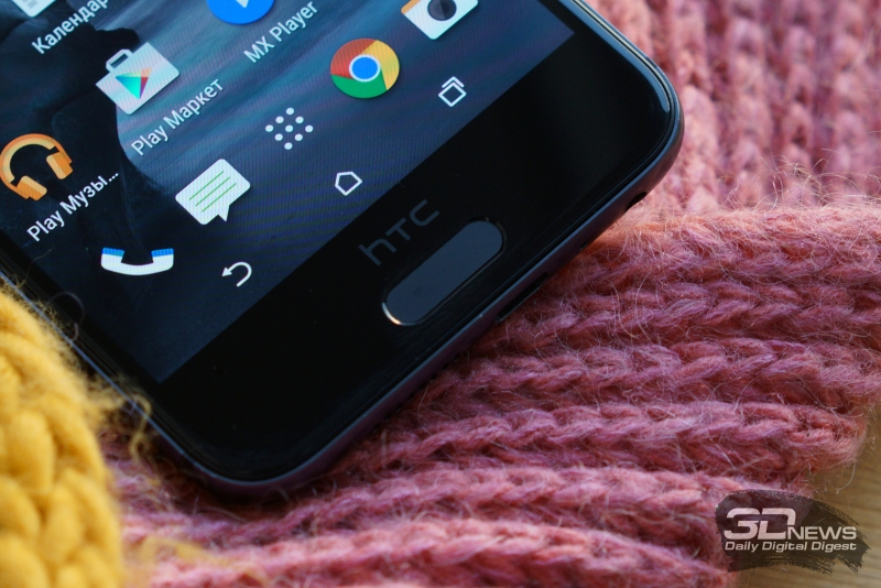 HTC One A9, сканер отпечатков пальцев