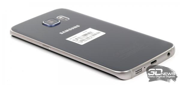 Samsung GALAXY S6 Edge – нижний торец