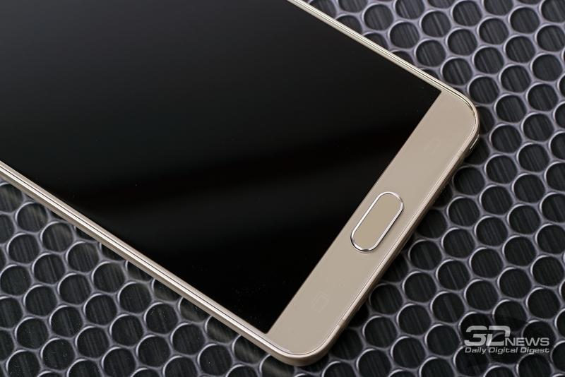 Samsung Galaxy Note5 – клавиши в нижней части лицевой панели