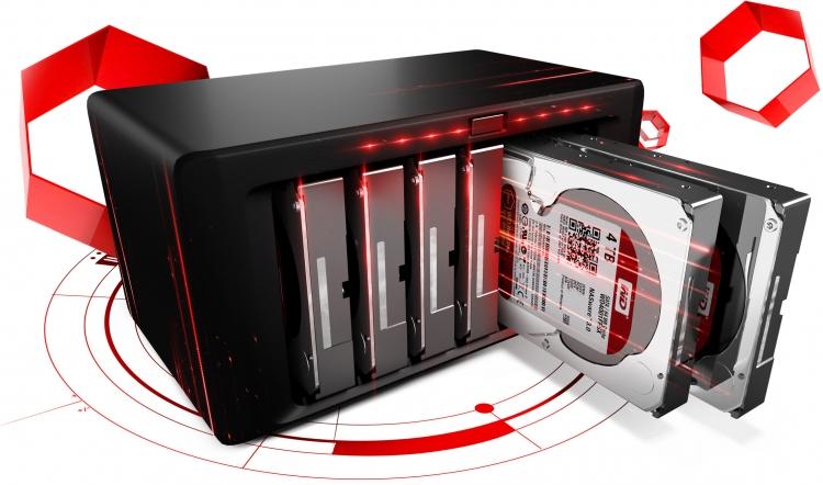 NAS система с жёсткими дисками WD Red