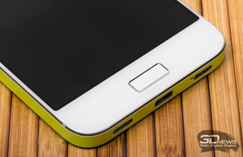ZTE Blade S7 – клавиша «Домой» со сканером отпечатков пальцев