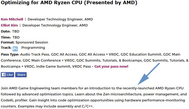 Описание лекции AMD на сайте GDC