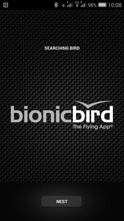 Титульный экран приложения The Flying App
